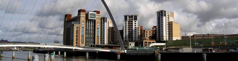 The Baltic Art Gallery and Millennium Bridge, Gateshead